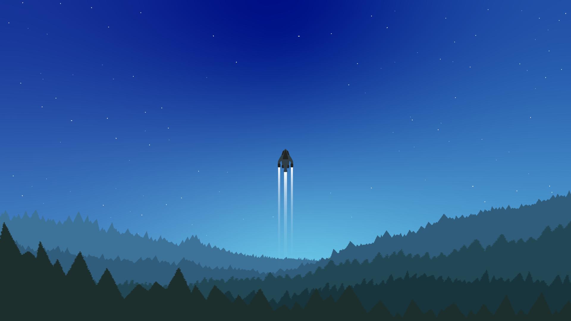 spaceship background wallpaper minimalist for macbook laptop mac windows chromebook