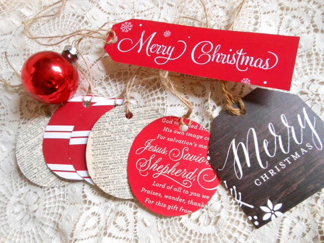 Recycling Christmas Cards as Gift Tags