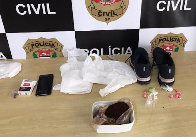 Polícia Civil prende em flagrante casal por tráfico de drogas em Registro-SP