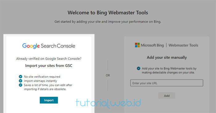 Cara Submit Blog Ke Bing 2 Pilih Import