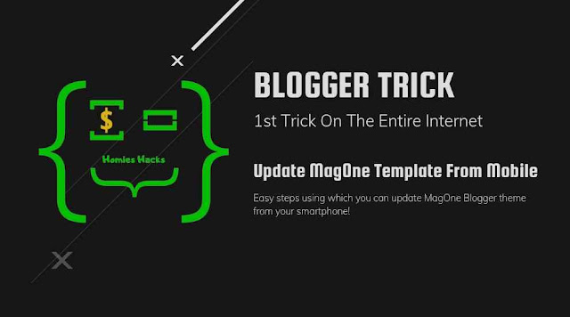 Update MagOne Template From Mobile