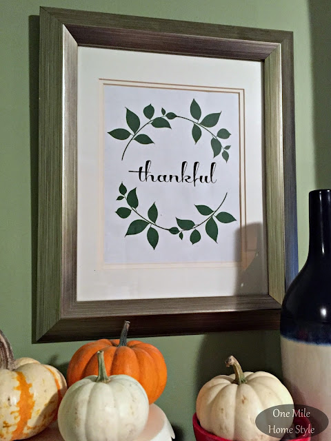 Thankful 8x10 Printable - One Mile Home Style