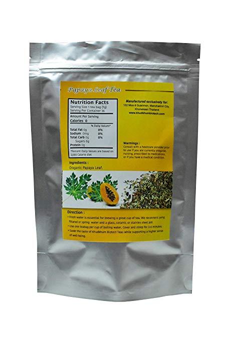 Papaya Leaf Tea Back