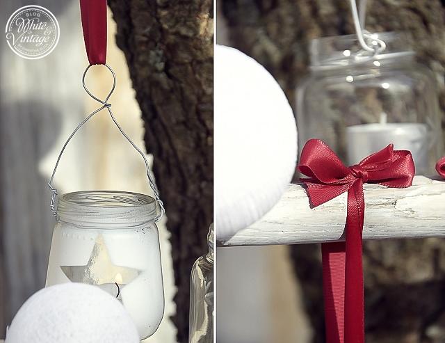 Dekoleiter weihnachtlich dekorieren.