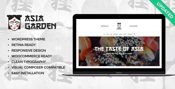 Asia Garden v1.1.1 - Chủ đề WordPress Nhà hàng Thực phẩm Châu Á