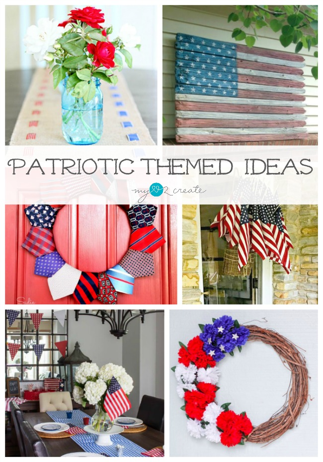 I love all these amazing Patriotic Themed Decorating Ideas, MyLove2Create