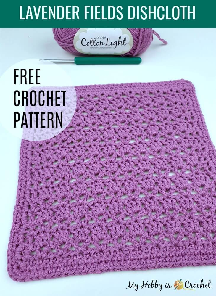 Lavender Fields Dishcloth | Free Crochet Pattern + Chart