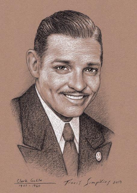 Clark Gable. American Film Actor. Freemason. by Travis Simpkins