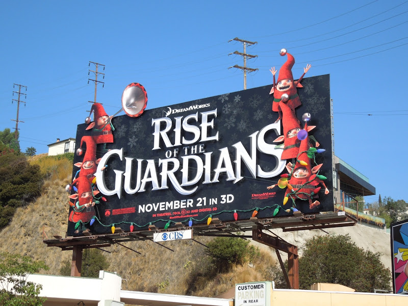 Rise of the Guardians special installation movie billboard