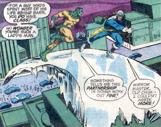 The Secret Society of Super-Villains #1, Mirror Master and Captain Cold flee the scene