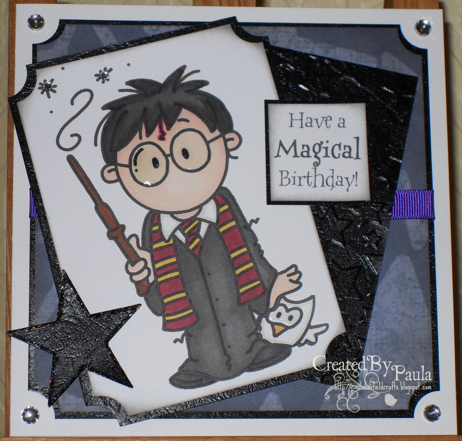 Paulaholifieldcrafts: Harry Potter Birthday Card