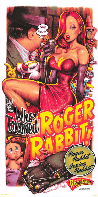 Designer Con 2019 Exclusive Who Framed Roger Rabbit Screen Print by Rockin' Jelly Bean x Disney x Cyclops Print Works