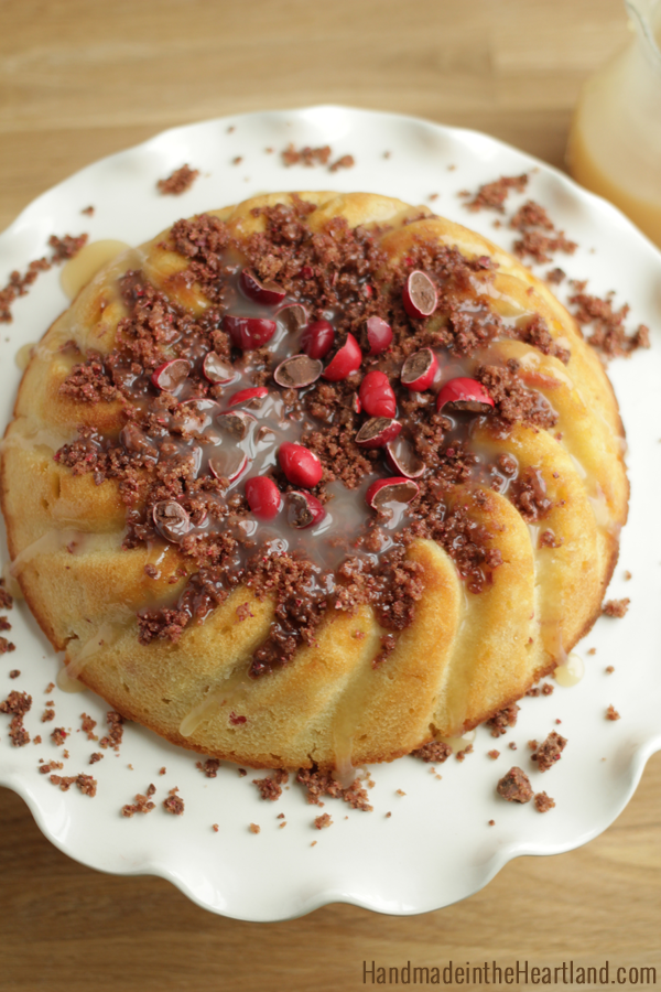 Apple Cake with Candy Apple M&M's Streusel Topping #flavoroffall #shop