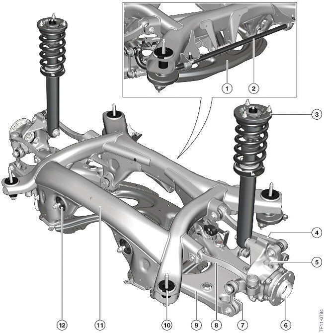 Multi Link Rear Suspension: F10 M5 Car Blog: Suspension