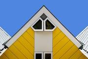 Architettura contemporanea colorata: Blaakse Bos a Rotterdam