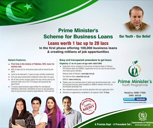 Prime Minister's Youth Business Loan Scheme Form Download NBP SBP FWBL Free