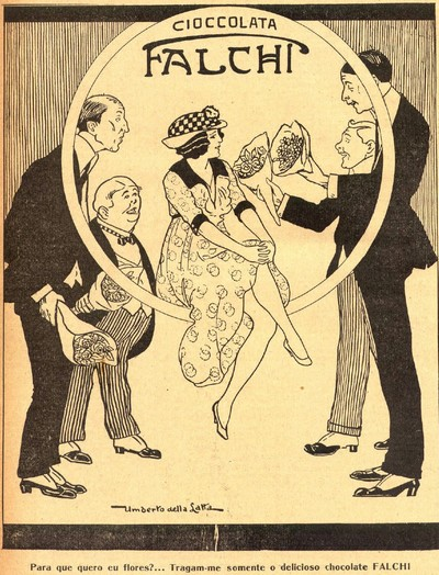 Propaganda antiga do Chocolate Falchi veiculada em 1905