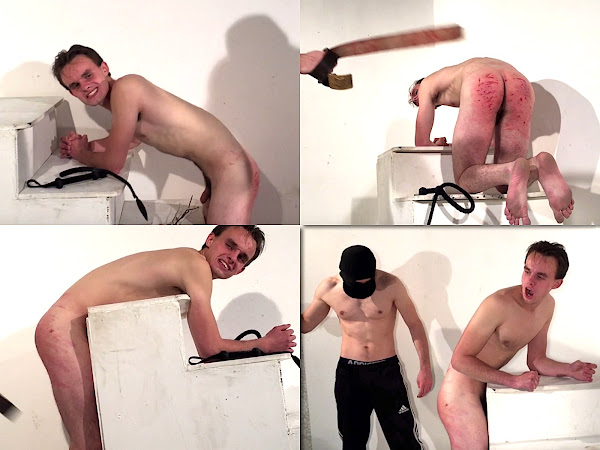#RusStraightGuys - Spanking Challenge Nikita 18 y.o.