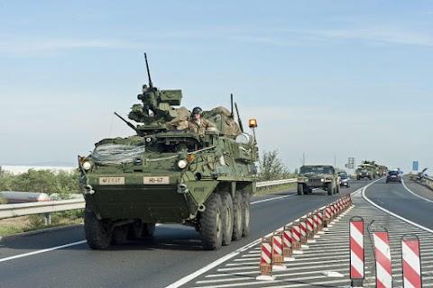 Gyakorlat miatt katonai járművek közlekednek több forgalmas útszakaszon
