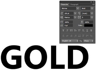 Gold-font-settings-in-Photoshop