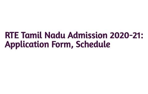 RTE Tamilnadu Admission