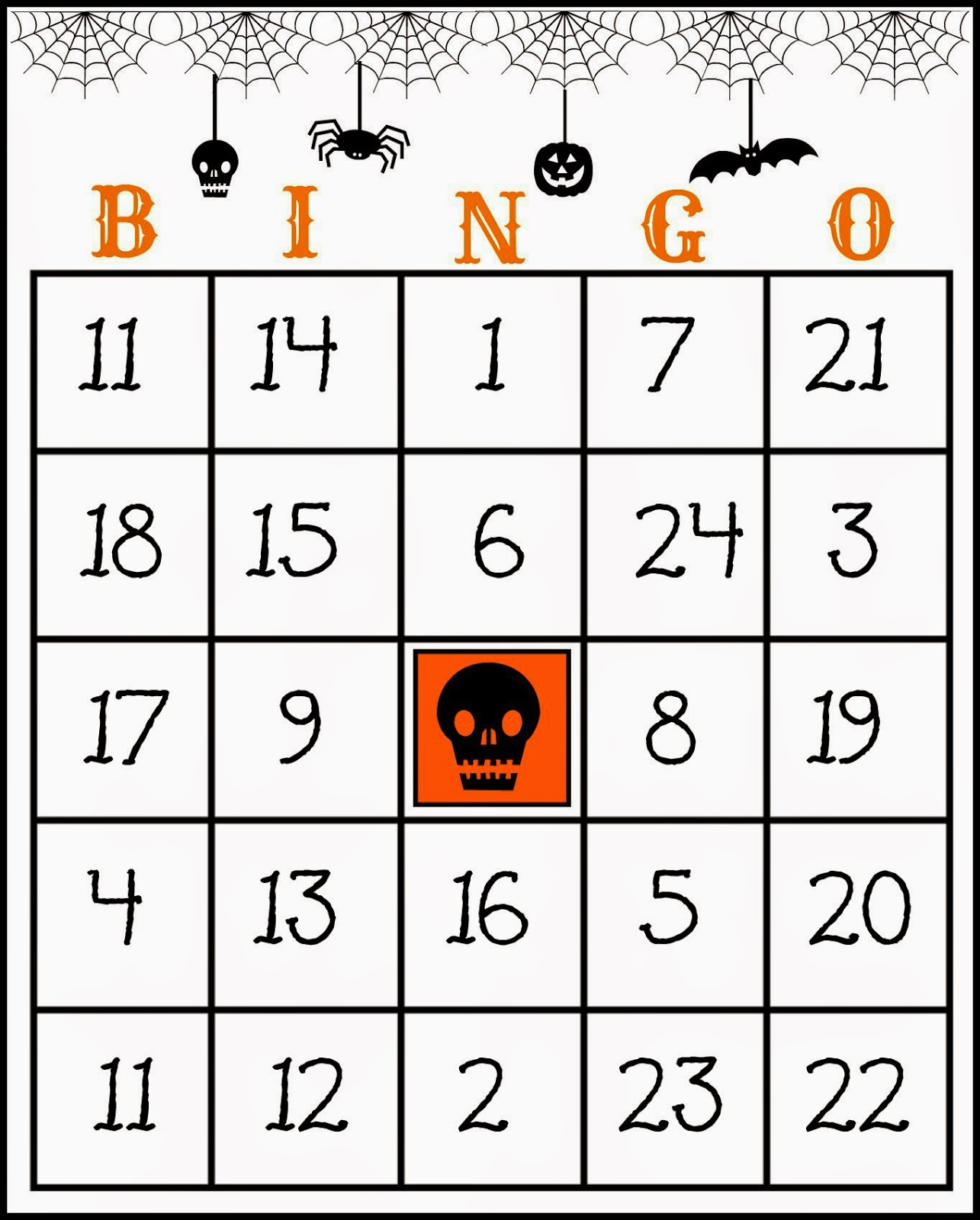 graphic relating to 25 Printable Halloween Bingo Cards known as Cunning inside Crosby: Cost-free Printable Halloween Bingo Activity