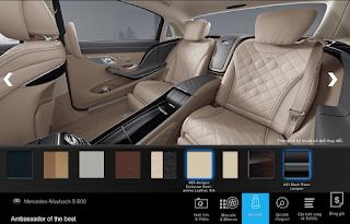 Nội thất Mercedes Maybach S600 2016 màu Vàng Silk (965)