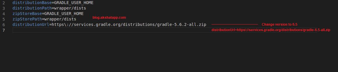 Gradle wrapper properties distribution urls
