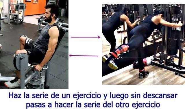Biserie de los ejercicios abducción y extensión de cadera con polea