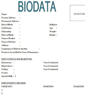 6 Simple Biodata Format For Job Application All Contracts In 1 Place