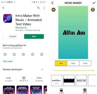 aplikasi pembuat intro video youtube tanpa watermark