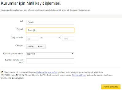 Şirketler ve Kobiler, Yandex'in Kurumlar için Mail Servisinin Detaylı Kurulumu