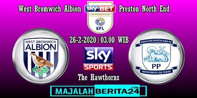 Prediksi West Bromwich Albion vs Preston North End