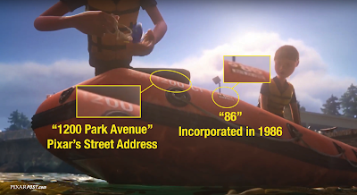 Finding Dory Easter Eggs Address and 1986