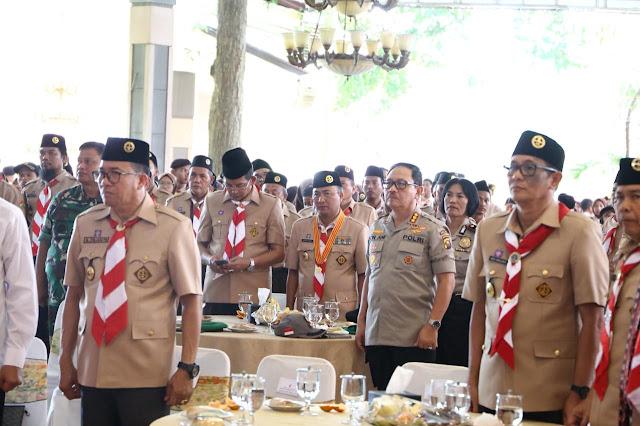 Ketua Kwarcab Pramuka Muba Hadiri Pelantikan PAW Mapimda Gerakan Pramuka Sumsel