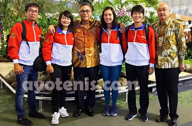 Tim Piala Fed Indonesia Bertolak ke Dubai, Ini Penuturan Aldila dkk