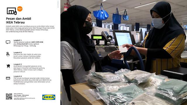 Anda kini boleh 'pesan dan ambil' barangan IKEA dalam hari yang sama menggunakan Whatsapp