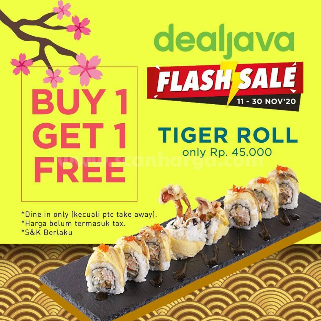 Promo Pecopeco Sushi Dealjava Flashsale Buy 1 Get 1 Free Tiger Roll