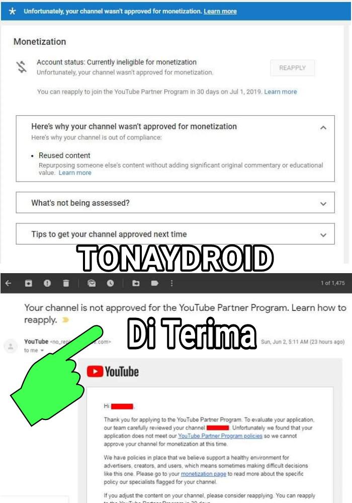 Channel Youtube Di Phpin Tidak Di Mones Atau Dismon Ini
