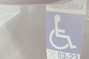 blog post Doc #AtoZchallenge #MentalHealth #AdForRoomatesStory #Paranormal #UrbanFantasy #Disability Handicapped sign