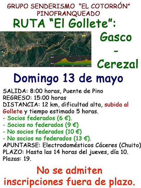 "II Ruta ""El Gollete"" Gasco-Cerezal"