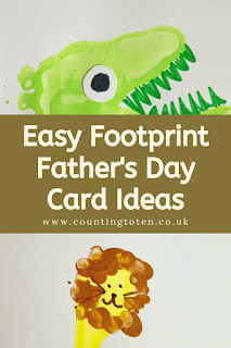 Easy Footprint Father's Day Card Ideas for Toddlers to Make