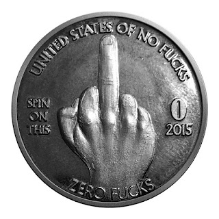 Zero Fucks Given Giftable Novelty Quarter Coins, The Middle