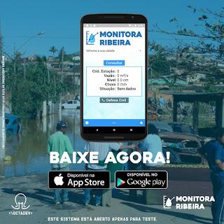 Aplicativo que faz  monitoramento do Rio Ribeira