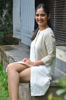 Radhika Cute Young New Actress in White Long Transparent Kurta ~  Exclusive Celebrities Galleries 048.JPG