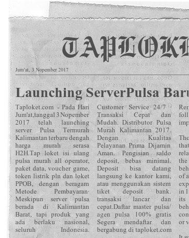 Top auto payment Pulsa murah nasional Tap pulsa Loket PPOB serasa Server Pulsa H2H termurah Pusat Grosir Market Pulsa Kalimantan