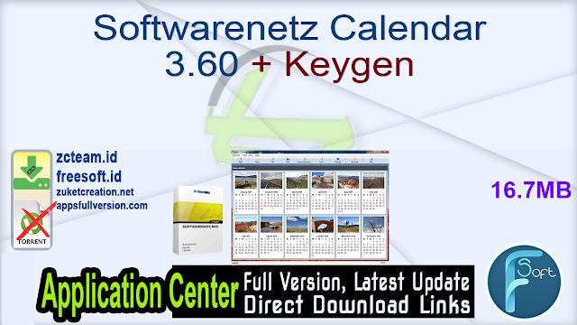 Softwarenetz Calendar 3.60 + Keygen_ ZcTeam.id