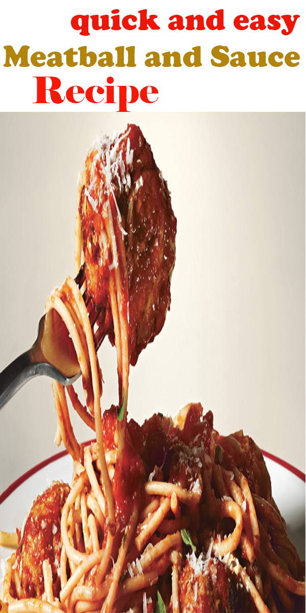 quick and easy Meatball and Sauce Recipe #quick #and #easy #Meatball #and #Sauce #Recipe #quickandeasyMeatballandSauceRecipe