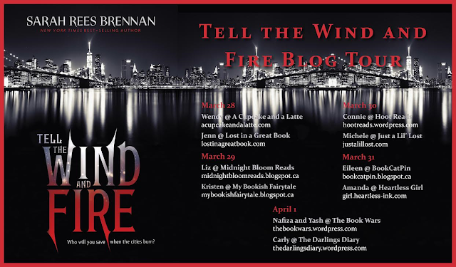Tell the Wind and Fire Blog Tour postcard