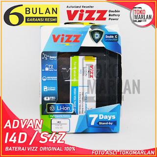 Kualitas dan Harga Baterai Vizz Advan I4D S4Z Double Power